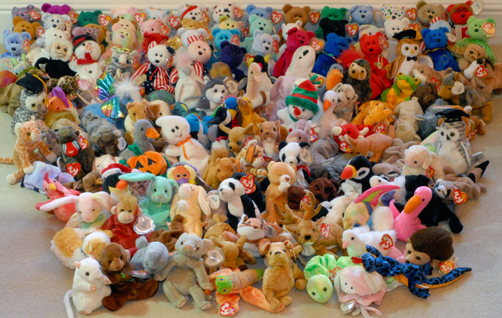 Ty Beanie Babies Large Collection Of 151 Retired Beanies